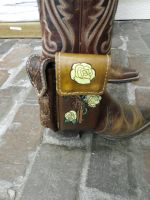 boot pouch for cell phone and mace tube.  by LOVEmyFLESH