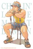 Pin up - Bondi guy on chair by keigo-mak