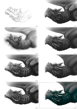 Dragon process by Limper-SK