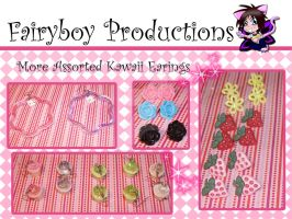 More Assorted Kawaii Earings by LunarFoxDesigns