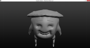 Sculpture 2: Mushroom Man 2 [Unpainted, Picture 1] by UndesiredTruths