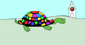 Turtle Goin to Heaven by katiejo911