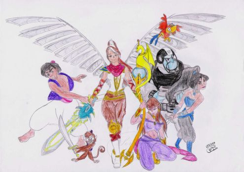 Defenders of Agrabah by Lady-Scorpion