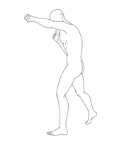 Fighting Male Pose 04 by Death-Tendency