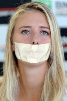 Maria Sharapova - Tape gagged by MyPerilBeauties