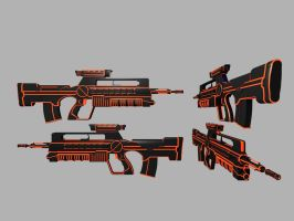 Battle rifle Red by Warkom