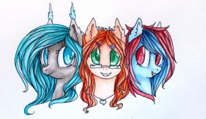 Brianna, Leify and Living Color by 0okami-0ni