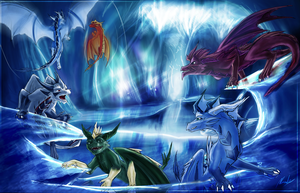 Under the Ice - Speed Art - 8~10 hours by IceDragonhawk