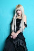 Girl in Gothic Black Dress I by tanit-isis-stock