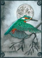 The king and the moon (ACEO) by Woodswallow
