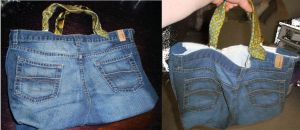 Recyled Jeans Bag 1 by SwirlzDesigns