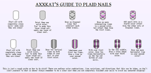 NailTutorial- Plaid by AxxKat