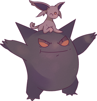 Gengar And Espeon | Eifie by AutobotTesla