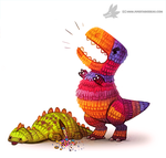 Daily Painting #948. Pinata Dinos (OG) by Cryptid-Creations
