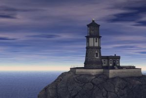 Free Stock Background - Lighthouse Scene by ArtReferenceSource