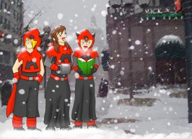 Team Magma Caroling by KaraTails