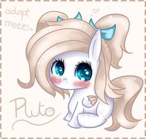 Planet pony adopt: Pluto (closed) by Lumicorn