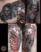 Joker Scarface Gamble stuff by 2Face-Tattoo