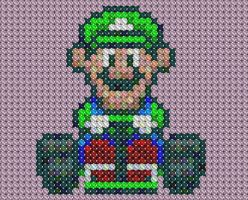 Luigi Kart Cross Stitch by drsparc