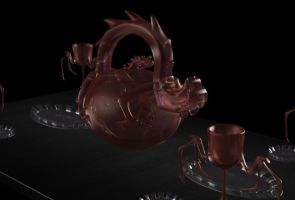 Dragon Teaset 2 by ChozoBoy