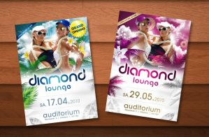 Diamond Lounge Flyer by kejdi