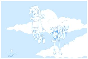 Baglis and Goofball the angels by ferwar