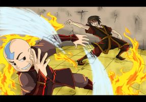 Avatar - Aang vs Zuko by TakuSalvemini