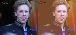 Chris Martin Colorization. by C-Jady