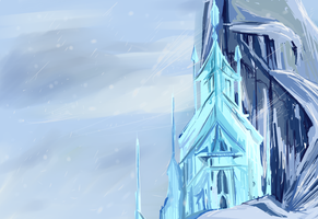 Frozen- Elsa's Castle by pottertwins186