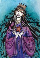 Queen of Stars ACEO by Namingway