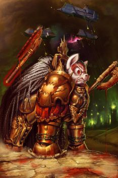 Angron, The World Eaters Primarch by DarthAgnan