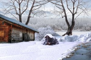 At the cabin 1  Premade Background by VIRGOLINEDANCER1