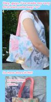 Cute Pink Bunny Bag by BlueDove415