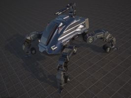 vehiculo mecha by lapizrender