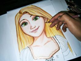 Rapunzel ( Disney Tangled ) Progress 2 by GuillermoAntil