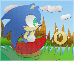 Sonic In Green Hill by KannaTC