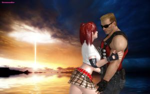 Candy Cane and Duke Nukem Apocalypse 2 by DreamCandice