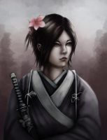 The samurai girl by Gengar1991