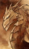 Sepia Dragon by Evolvana