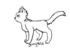Cat Line Art 2 by jenny96ist