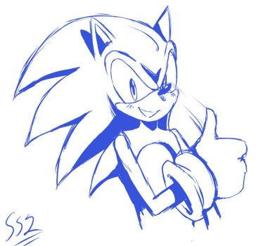 Blue Sonic by ss2sonic