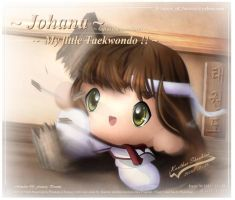 My little Taekwondo Johana by Kauthar-Sharbini