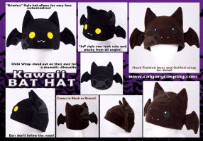Kawaii Bat Hat, WINNER by KayPikeFashion