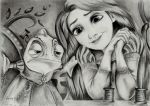 Disney's Tangled Portrait Drawing by LucindaGuy