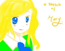 a bit sketch of Mary by GredellElle