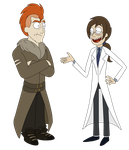 Gale and Hansen - Rick and Morty Style by NataliatheLeothaun