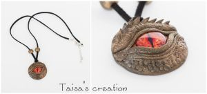 Smaug's Eye Pendant by Taisa-Winged