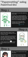 How to Fake Paper-cutting Using PaintTool SAI by mochimaruvii