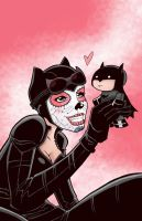 Catwoman and Batman Colors by BankyStar