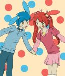 Plusle and Minun - Cheer Twins by poplarleaves